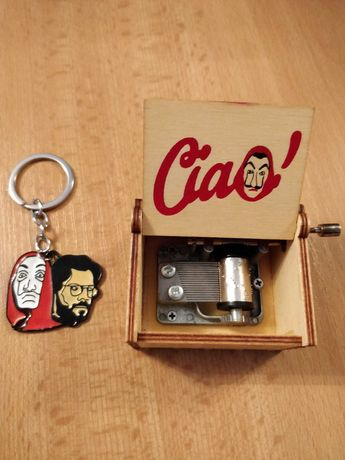 Уникална музикална кутийка La casa de papel + подарък ключодържател