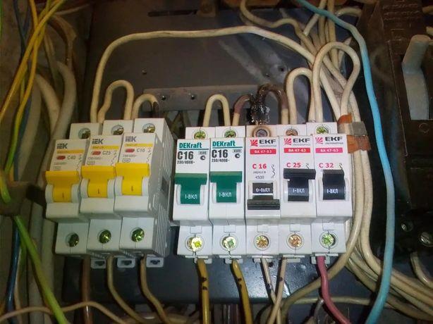 Услуги опытного электрика. Качественная работа!