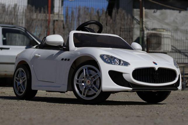 Masinuta electrice pentru copii Maserati Kids 2x 35W NOUA #Alb