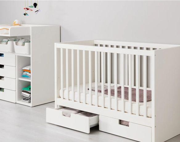 Детская кровать IKEA c матрасом  и бортиком