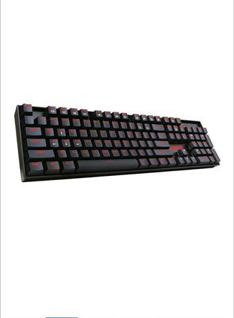 Tastatura gaming mecanica Redragon Mitra, iluminare rosu, switch blue