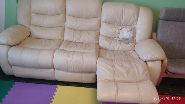 Canapea piele 3 persoane