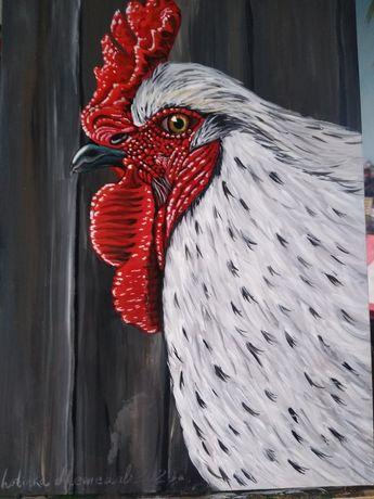 """"""" Петлето"""" картина ръчно рисувана с акрилни бои"""