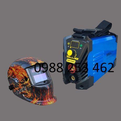 СОЛАРНА МАСКА + 250А мини 2,5 кг Електрожен Инверторен 4М каб дисплей