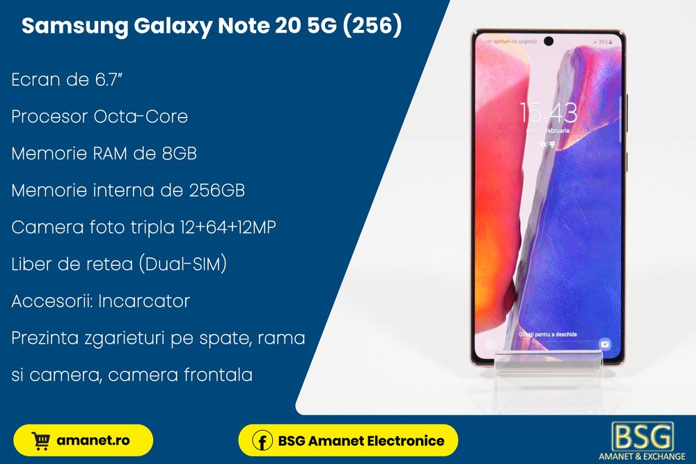 Samsung Galaxy Note 20 5G (256) - BSG Amanet & Exchange Baia Mare - imagine 1