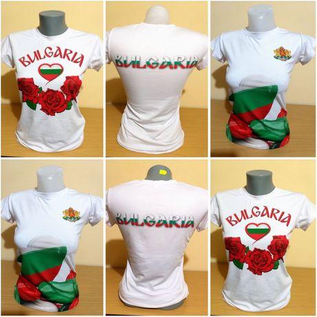 Дамска тениска на България - високо качествена сублимация - 3 варианта