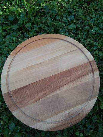Въртящ дървен поднос