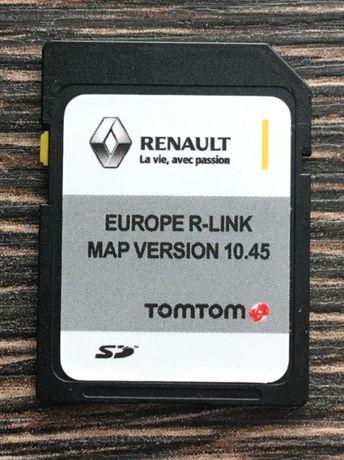 RENAULT TomTom R-LINK V10.45 SD CARD Навигационна 2021год. сд карта