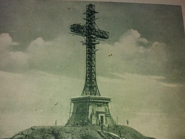 """Carte postala """"crucea de pe caraiman"""" in constructie"""