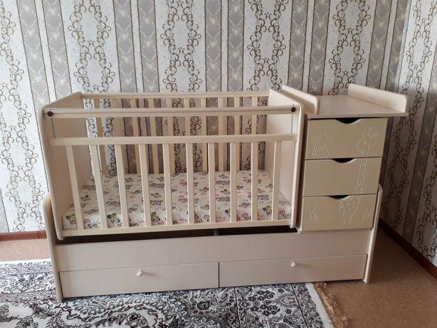 Скидка+подарка!Новый детский кровать трансформер 6в1 + новый матрас