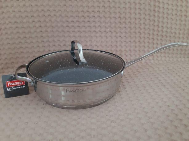 Fissman. Новая сковорода из нержавеющей стали с многослойным дном 3,5л