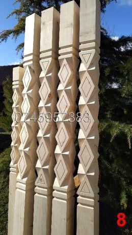Stalpi din lemn sculptati pt. terasa, pergola, foisor, filigorie, gard