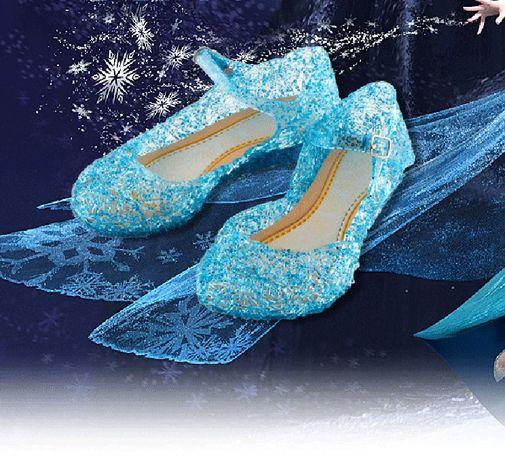 """Pantofi pantoriori Elsa Frozen NOI """"de cristal"""" marimea 25, 26, 27, 28"""