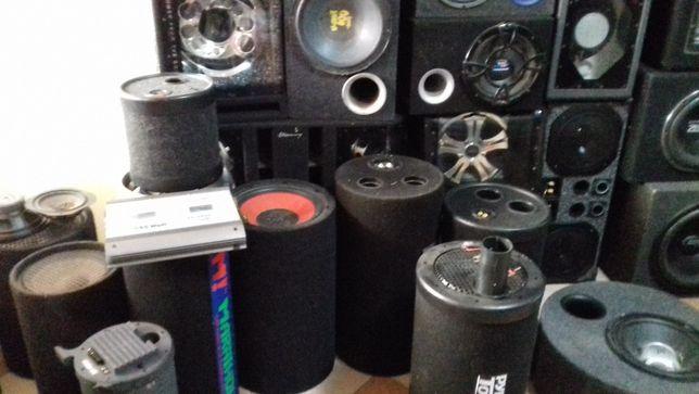 subwoofer auto bass activ amplificator set cablu adaptor filtru hi lo