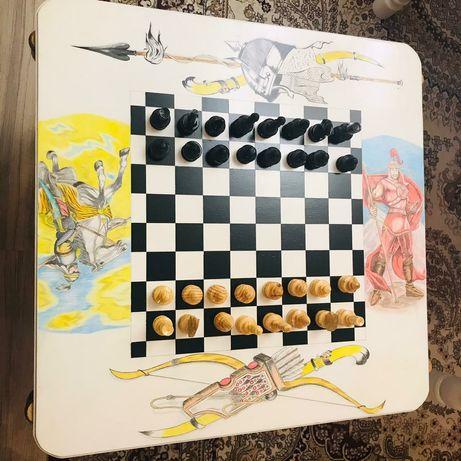 Шахматный стол со шкатулкой