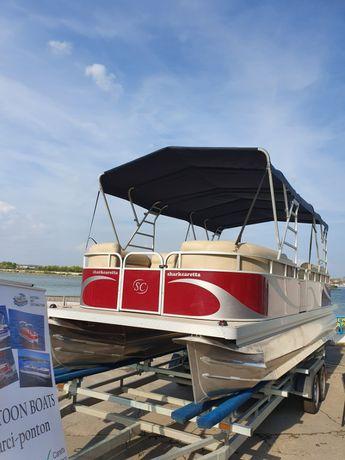 Barca Ponton (Catamaran) noua, DE VANZARE, 8m lungime