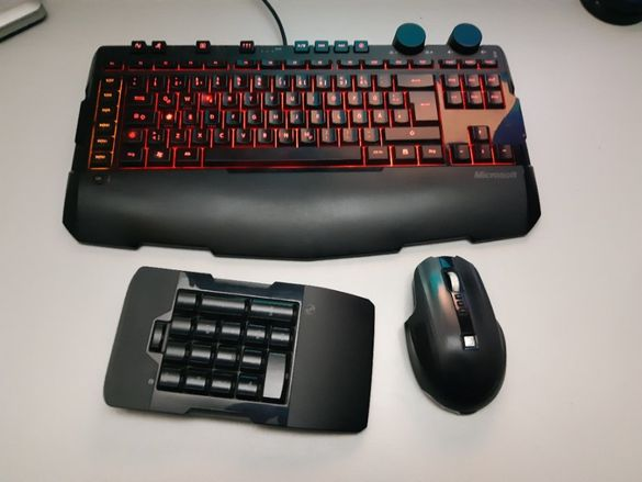 Геймърски комплект - клавиатура, мишка, пад и слушалки