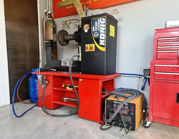 Ремонт- Изправяне и Заваряване на алуминиеви и метални джанти