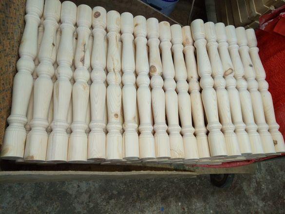 Дървени балюстри за парапет