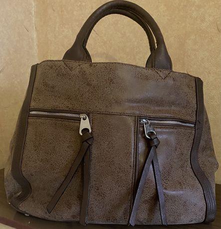 Дамска кафява чанта