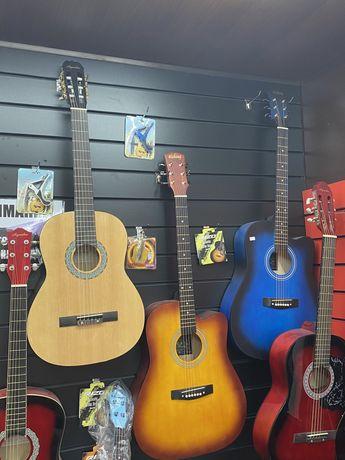 Новые гитары по 20000тг + чехол подарок!Доставка бесплатно!