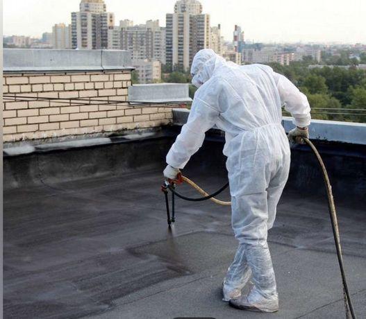 Гидроизоляция  крыш подвалов жидкая резина