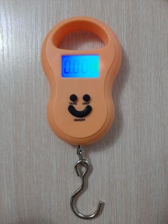 Удобная ручка весы до 50 кг электронные (кантр, безмен)
