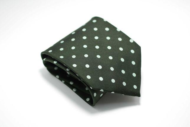 Cravata Barbati Hugo Boss 9.5 x 142 cm Verde Buline albe Matase CR148