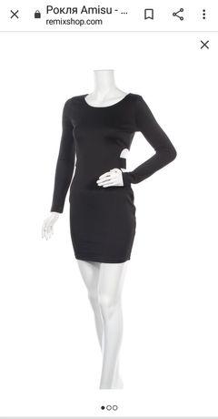 Черна рокля Amisu.