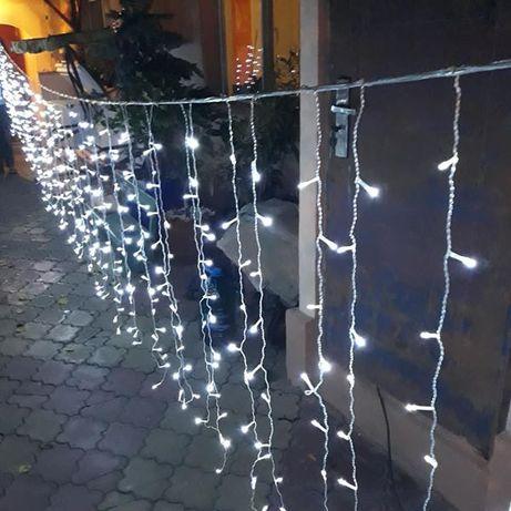 Perdea Luminoasa Craciun Exterior 3x3 m 352 LED, prelungibila