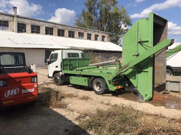 Контейнери за строителни и битови отпадъци под наем