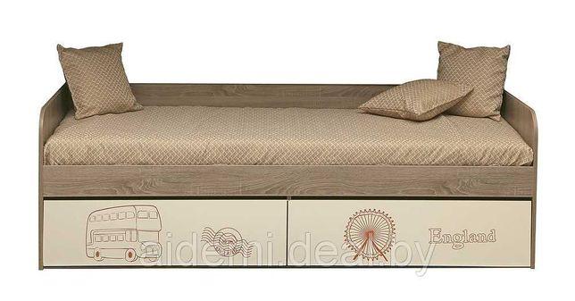 """Кровать П551.20 """"Бритиш"""" н/м для жилой комнаты"""