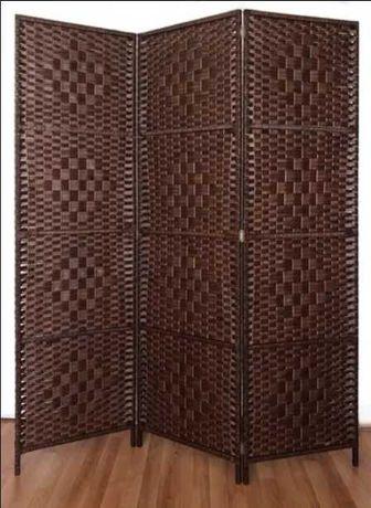 Интериорен Параван регулируем от 2 до 8 Крила, Дървен