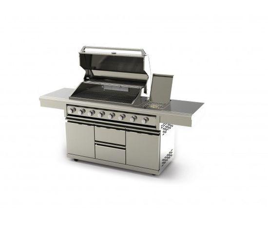 REXMARTINS Gratar Barbeque;Fry top BBQ alimentare gaz+masa depozitare