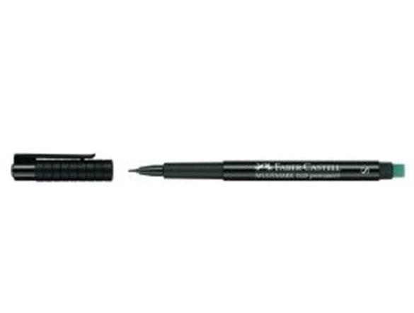 Перманентен маркер Faber Castell / черен с гума