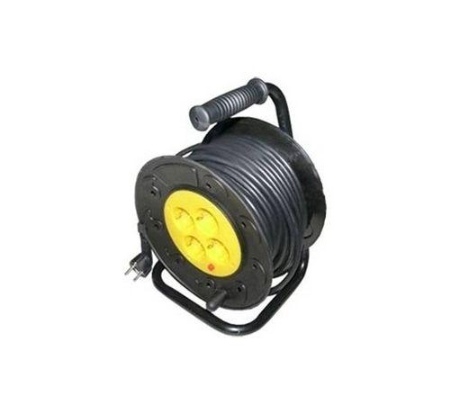 Макара с кабел и термозащита черна 20m 220V 16A