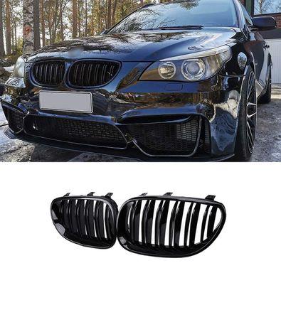 НОВИ Бъбреци Е60/Е61 М5 Двойни Лъскаво Черни BMW Решетки 03-10 E60 E61