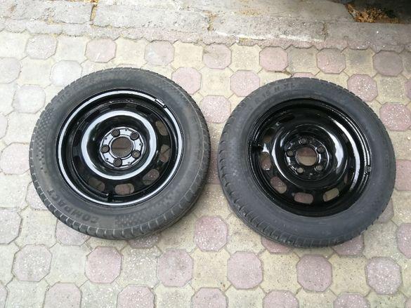 2 железни джанти 15 5x114.3 с летни гуми R15 185/60 Sportiva Compact