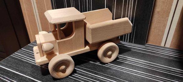 Дървено камионче самосвал РЕТРО