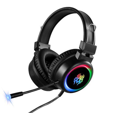 Новые Игровые наушники с RGB подсветкой микрофоном гарнитура Алматы