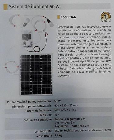Sistem iluminat Rulote Cabane Terase Stani cu becuri 50W
