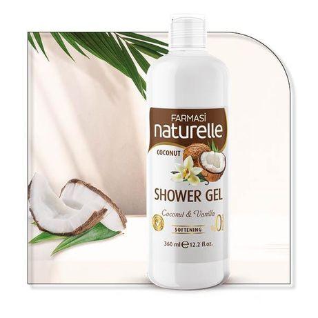 Gel de duș cocos , Naturelle 360 ml
