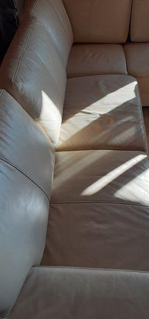 Кожен ъглов диван