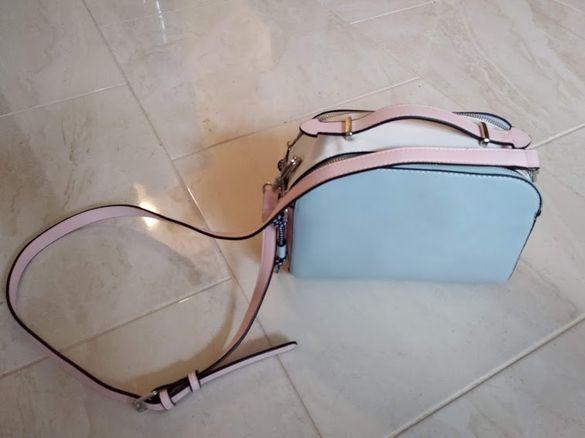 Чанта Parfois в синьо/розово