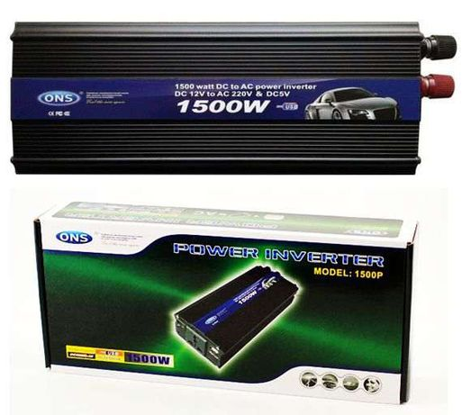 Invertor auto 1500W ONS cu Priza 220V si USB in masina