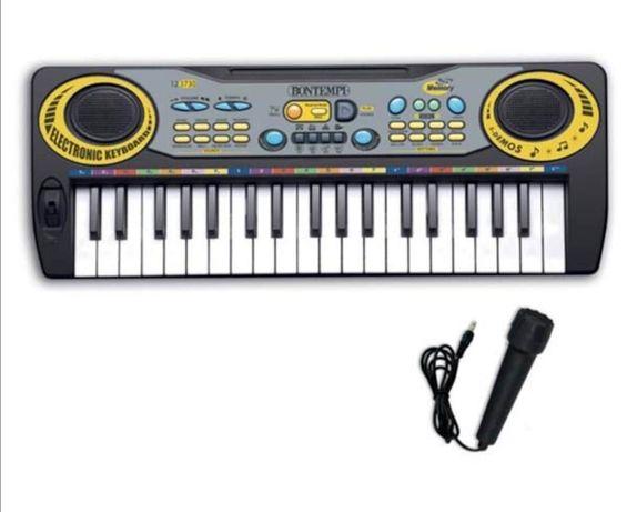 Детски синтезатор пиано йоника с микрофон Детски играчки
