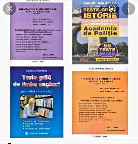 Pregătire admitere limba română engleză istorie teste psihologice