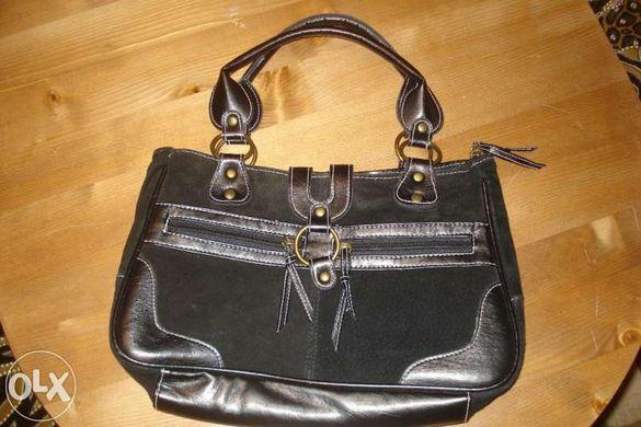 Чанта с естествен велур