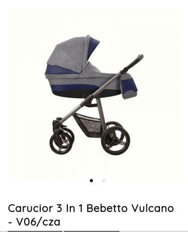 Carucior 3 in 1 Bebetto Vulcano