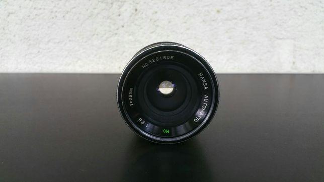 Obiectiv foto montura nikon fix 28mm 1:2.8 hansa automatic